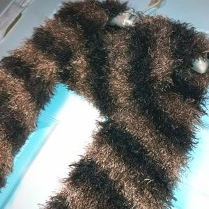 Furry Scarf that is also a Shrug Wrap Fuzzy Hollow